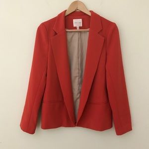 Silence + Noise Orange Blazer Open Front Medium